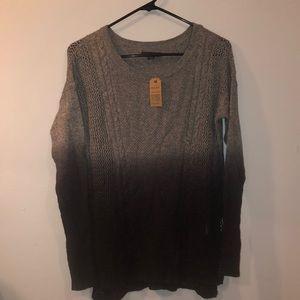 Long sleeve thin knit sweater